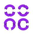 circular ribbons banners geometric realistic vector image vector image