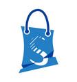 diagonal strip letter s and market logo vector image
