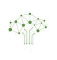 digital tree made circuits vector image