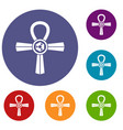 egypt ankh symbol icons set vector image vector image