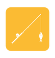 Fishing rod icon vector image vector image