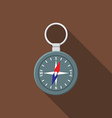 flat design modern compass icon camping hiking vector image