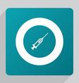 flat syringe icon vector image
