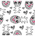 fruit hand draw of doodle style vector image vector image
