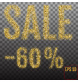 gold sale 60 percent shine salling background for vector image