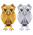 Golden and Silver Owl vector image