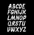 hand lettering grunge font alphabet vector image