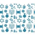 Hanukkah symbol seamless pattern Hanukkah vector image vector image