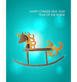 Happy holidays Chinese New Year of the Horse vector image vector image