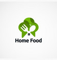 home food logo designs concept icon element and vector image vector image
