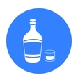 Liqueur icon in black style isolated on white vector image vector image