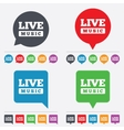 Live music sign icon Karaoke symbol vector image