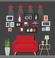 living room furniture ideas vector image vector image