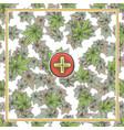 Marijuana medical banner six vector image