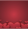 modern red valentines day background heart vector image vector image