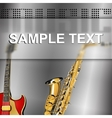 musical background with glass frame blur vector image vector image