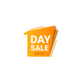 one day sale banner template vector image vector image