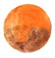 orange and brown chocolate watercolor circle shap vector image vector image