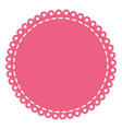pink circular decorative frame with border rings vector image vector image