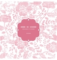 Pink textile birds and flowers frame seamless vector image