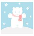 polar bear with scarf vector image