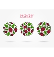 Raspberry round labels creative concept vector image vector image