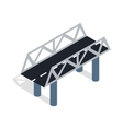 Road bridge icon isometric 3d style vector image vector image