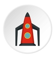 Rocket for space flight icon flat style vector image vector image