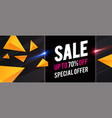 sale design template with triangles and light vector image