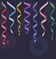 seamless decorative serpentines with fireworks on vector image vector image