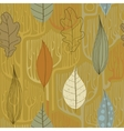 Seamless Pattern with a stylized trees Fall vector image