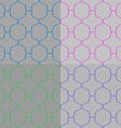 Set of Abstract Seamless Pattern vector image vector image