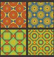 Set of geometric pattern vector image vector image