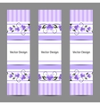 set vertical banners with flowers vector image