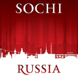 Sochi Russia city skyline silhouette vector image vector image