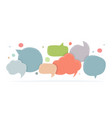 speech bubbles doodle in different colors vector image vector image