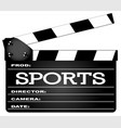 sports clapperboard vector image vector image