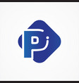 square symbol letter p design minimalist vector image vector image