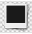 stack retro photo frames made in realistic vector image