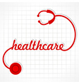 Stethoscope make healthcare word vector image vector image