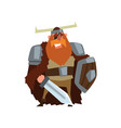 strong viking warrior character with sword and vector image vector image