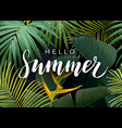 summer tropical design with exotic dark vector image