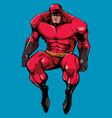 superhero sitting no cape vector image vector image