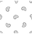 thinking brain pattern seamless vector image vector image