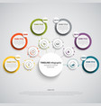 time line info graphic with round design labels vector image vector image