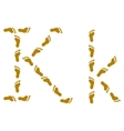 traces letter k vector image vector image