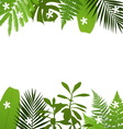 Tropical leaves background with vector image vector image