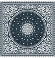 victorian floral paisley medallion ornamental rug vector image