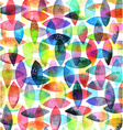 Watercolor seamless abstract hand-drawn pattern vector image