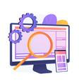 web design concept metaphor vector image vector image